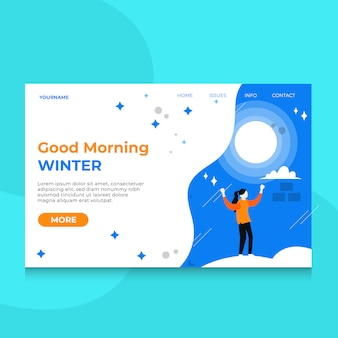 Landing page special winter