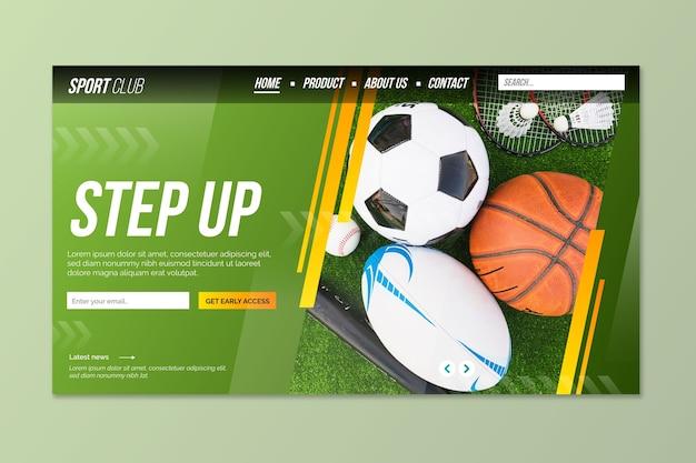 Landing page sport mit foto