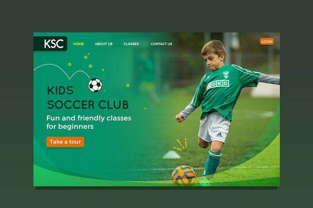 Landing page sport vorlage mit foto