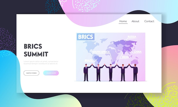 Landing page template der brics association.