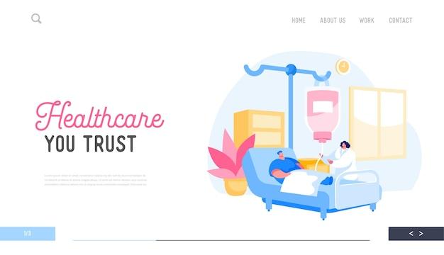 Landing page template für das gesundheitswesen