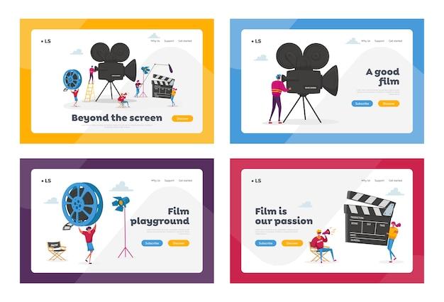 Landing page template set für die filmindustrie