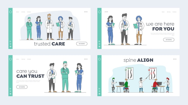 Landing page template set für skoliose-diagnose
