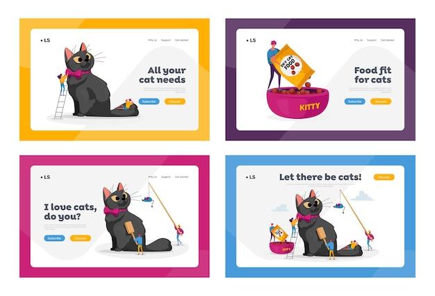 Landing page template set für tierpflege