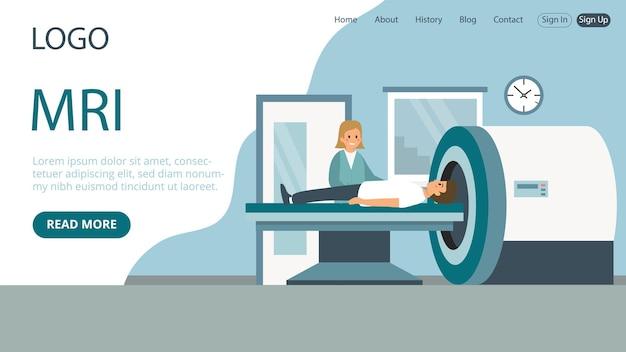 Landing page template von mrt-geräten Premium Vektoren