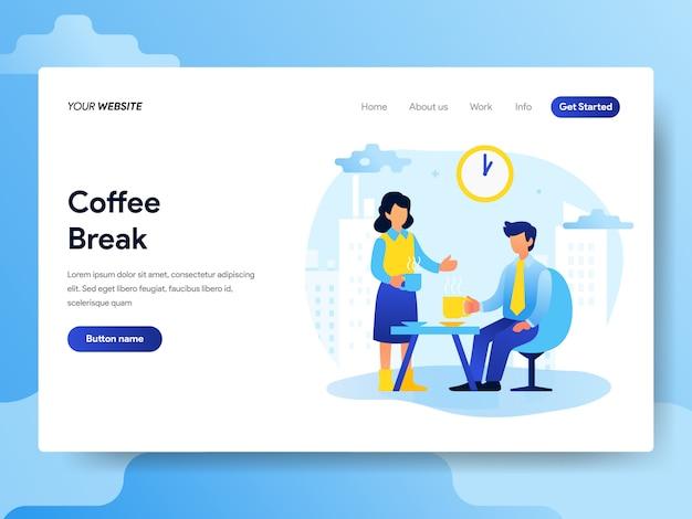 Landing-page-vorlage der office-kaffeepause