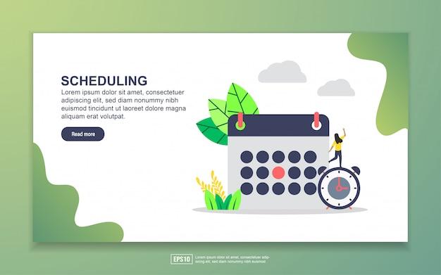 Landing-page-vorlage für die planung