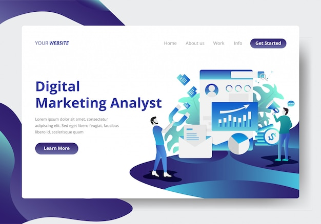 Landing-page-vorlage für digital marketing analyst