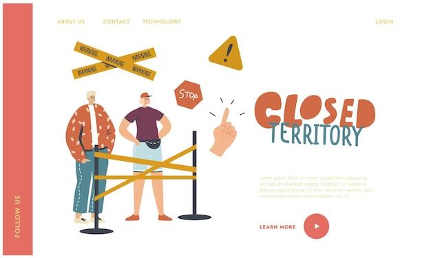 Landing page-vorlage für geschützte bereiche.