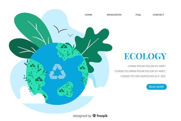 Landing page vorlage für ökologie-konzept