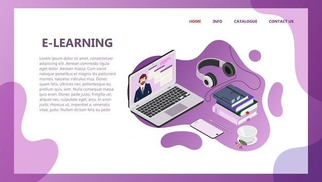 Landing-page-vorlage für online-bildung