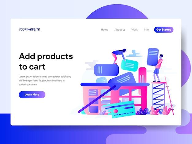 Landing-page-vorlage für online-shopping