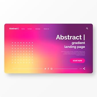 Landing-page-vorlage mit abstraktem hintergrund