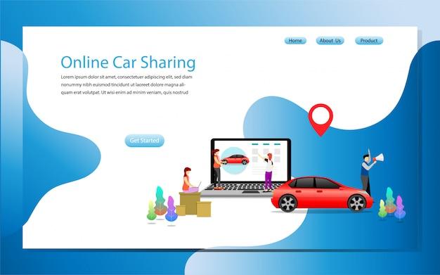 Landing-page-vorlage online-carsharing