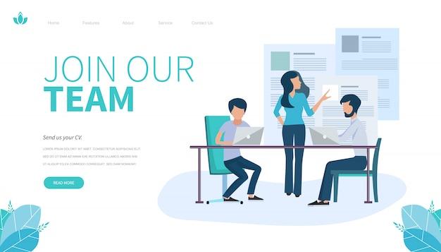 Landing-page-vorlage von join our team