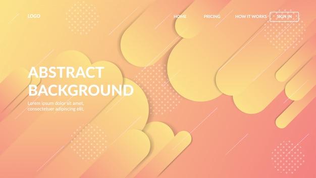 Landing page web template mit dynamischen modernen abstrakten design für websites