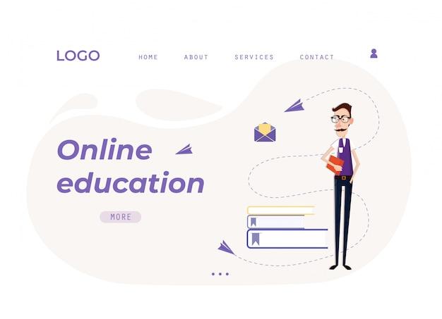 Landing page web template online-bildung