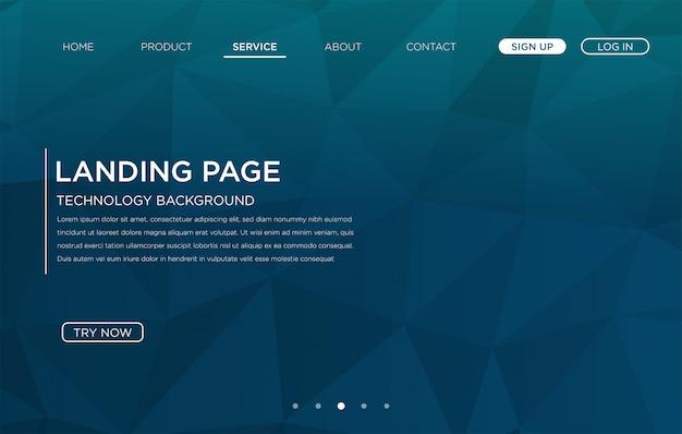Landing-page-website hintergrundvorlage design