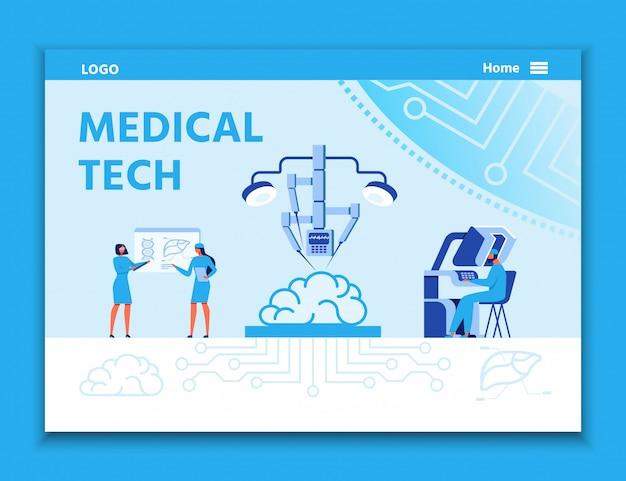 Landing page wirbt für medizintechnik zur behandlung