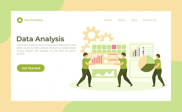 Landing page zur datenanalyse