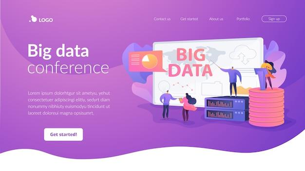 Landinge-seite für big data-konferenzen