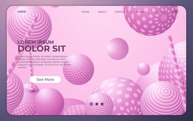 Landingpage. asbtract hintergrund-website. vorlage für websites oder apps. modernes design. abstrakter vektorstil