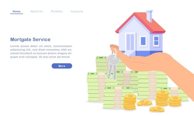 Landingpage bank hypothekendarlehen service house