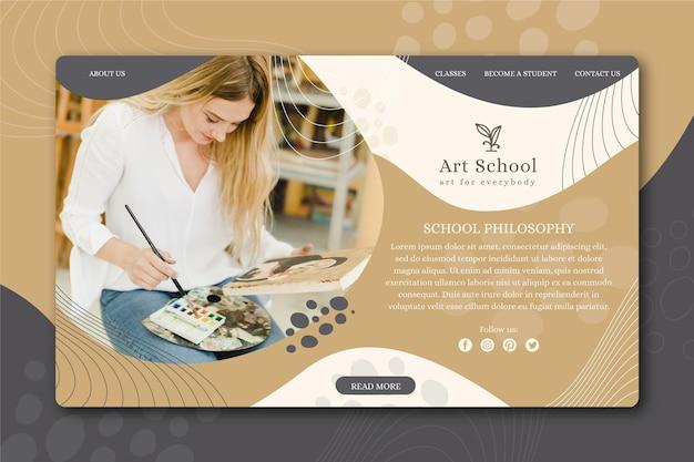 Landingpage der kunstschule Kostenlosen Vektoren
