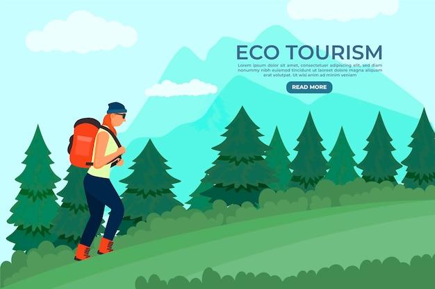 Landingpage der öko-tourismus-vorlage