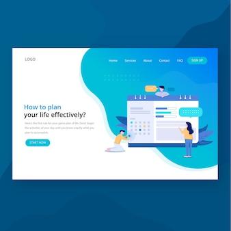 Landingpage der teamwork-header-website