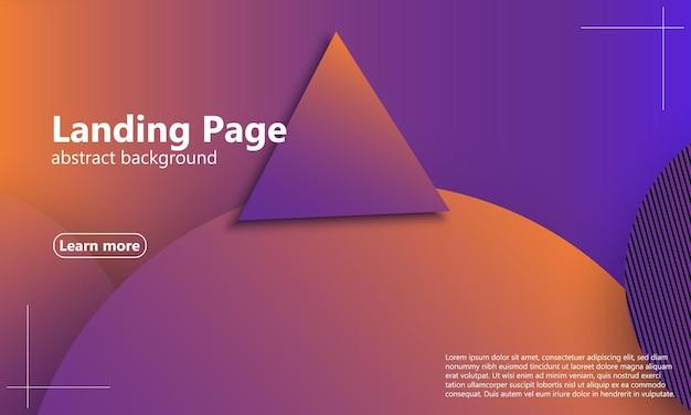 Landingpage der website. geometrischer hintergrund. minimales abstraktes cover-design. kreative bunte tapete. trendiges farbverlaufsplakat. vektor-illustration.