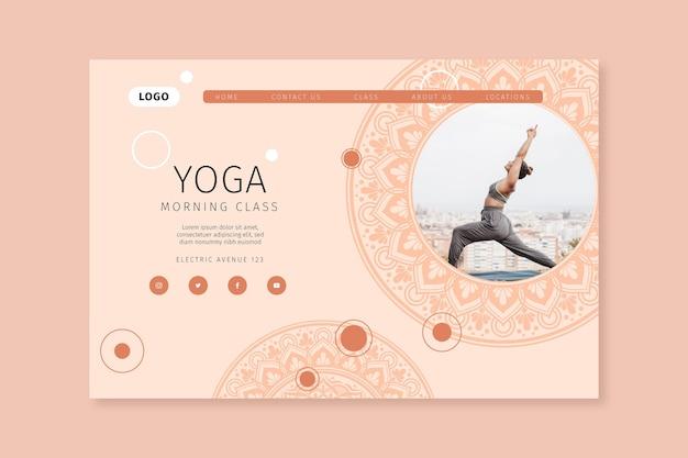 Landingpage der yoga-klasse am morgen