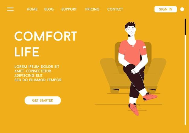 Landingpage des comfort life-konzepts