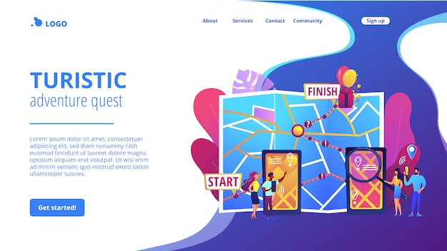Landingpage des interaktiven stadtquestkonzepts