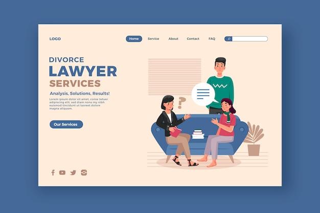 Landingpage des scheidungsrechtsanwalts