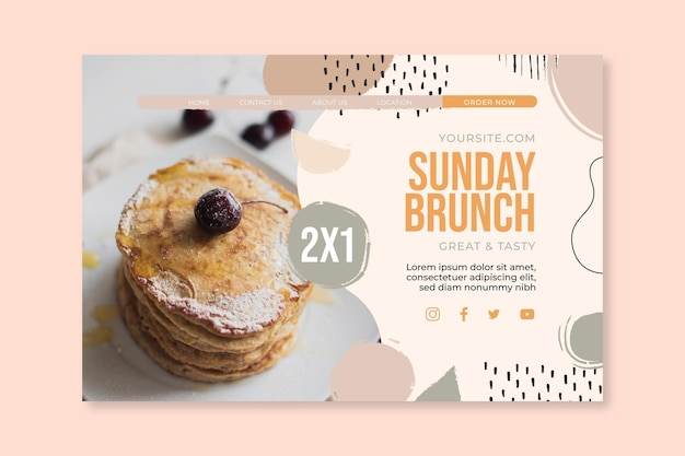 Landingpage des sonntagsbrunch-food-restaurants