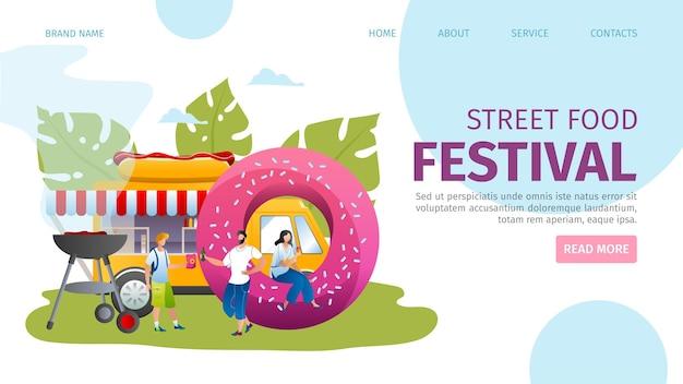 Landingpage des street food festivals