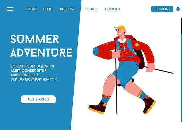 Landingpage des summer adventure-konzepts