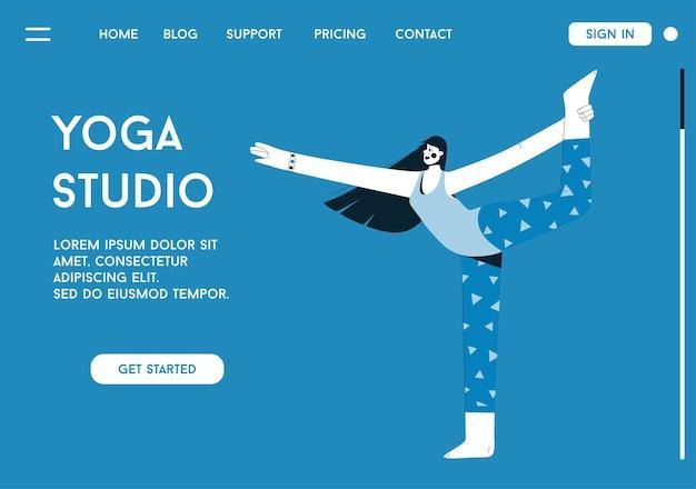 Landingpage des yoga studio konzepts