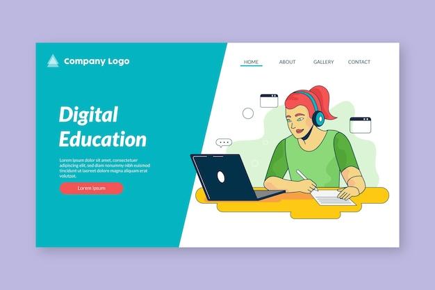 Landingpage-design für online-lernen