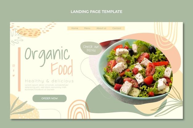 Landingpage für bio-lebensmittel im flachen design