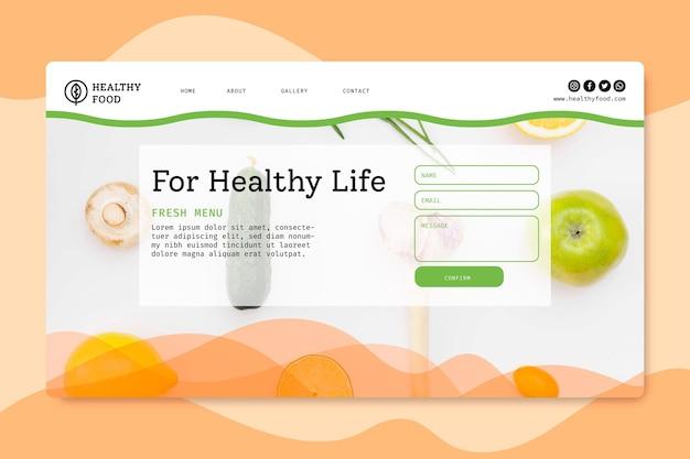 Landingpage für bio und gesunde lebensmittel
