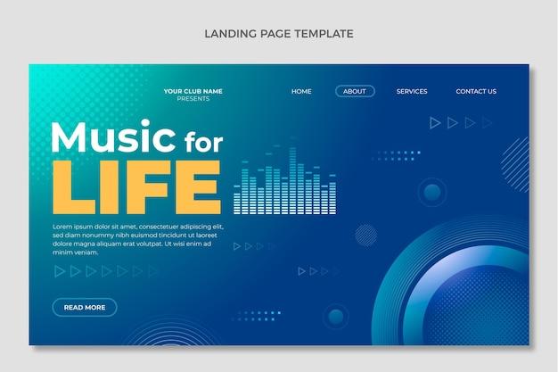 Landingpage für das gradientenhalbton-musikfestival Kostenlosen Vektoren