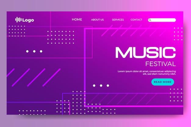 Landingpage für das gradientenhalbton-musikfestival