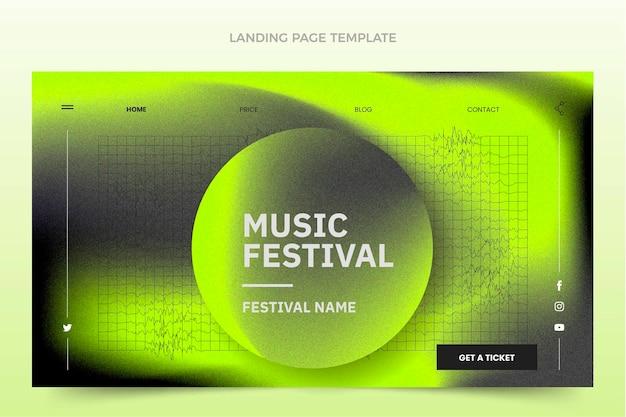 Landingpage für das musikfestival mit farbverlauf