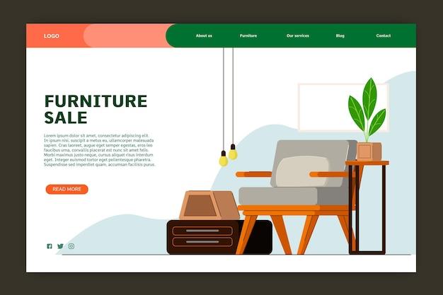 Landingpage für den verkauf von bio-flachmöbeln