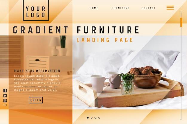 Landingpage für den verkauf von flachmöbeln