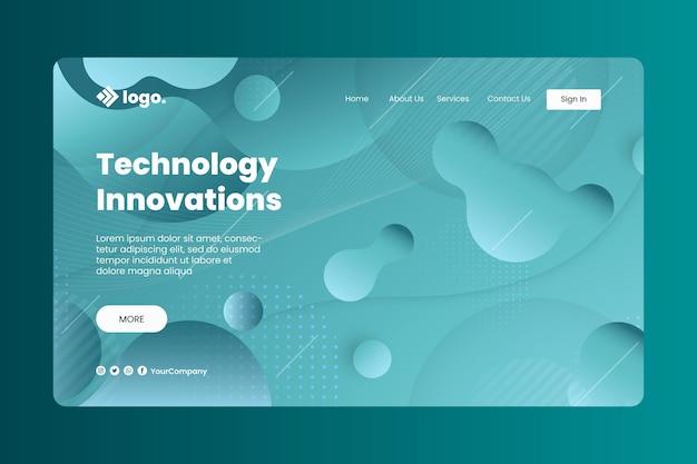Landingpage für die gradientenflüssigkeitstechnologie
