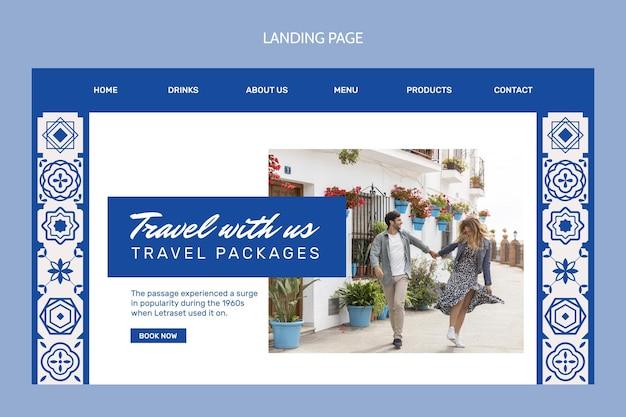 Landingpage für flache reisen