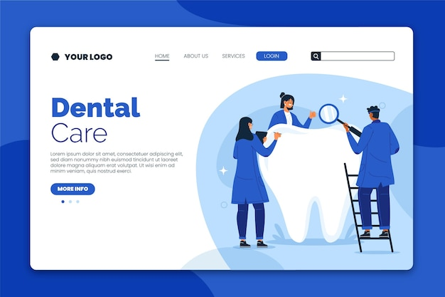 Landingpage für flache zahnpflege